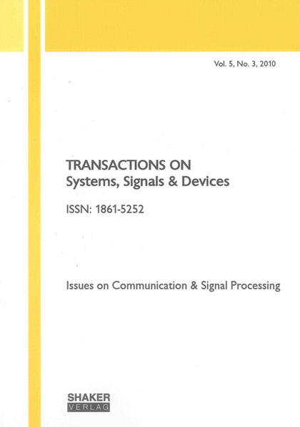 Transactions on Systems, Signals and Devices Vol. 5, No. 3 - Coverbild