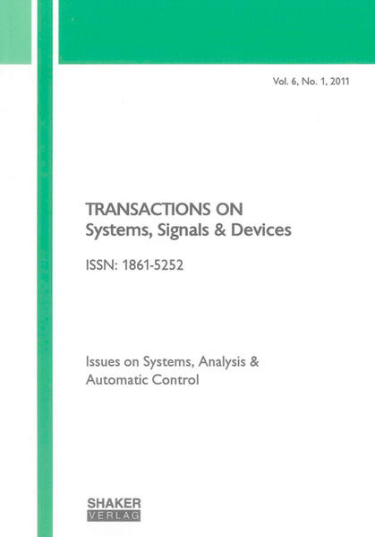 Transactions on Systems, Signals and Devices Vol. 6, No. 1 - Coverbild
