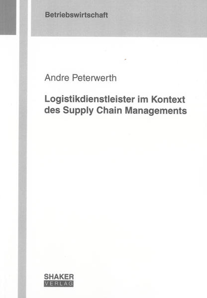 Logistikdienstleister im Kontext des Supply Chain Managements - Coverbild