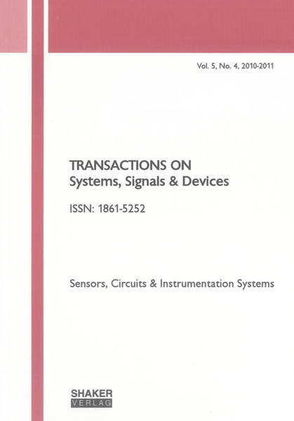 Transactions on Systems, Signals and Devices Vol. 5, No. 4 - Coverbild