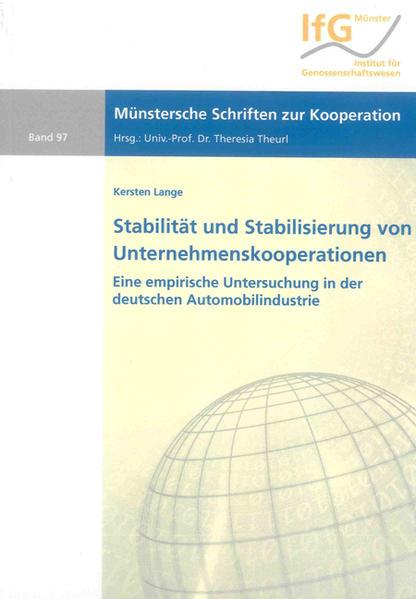 Stabilität und Stabilisierung von Unternehmenskooperationen - Coverbild