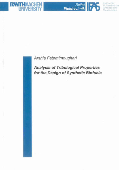 Analysis of Tribological Properties for the Design of Synthetic Biofuels - Coverbild