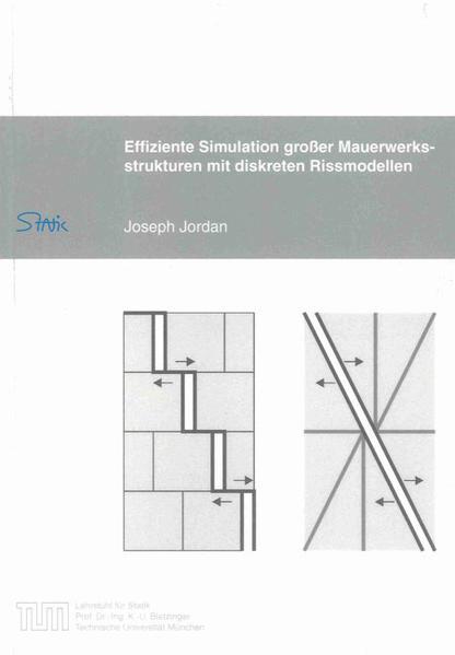 Effiziente Simulation großer Mauerwerksstrukturen mit diskreten Rissmodellen - Coverbild