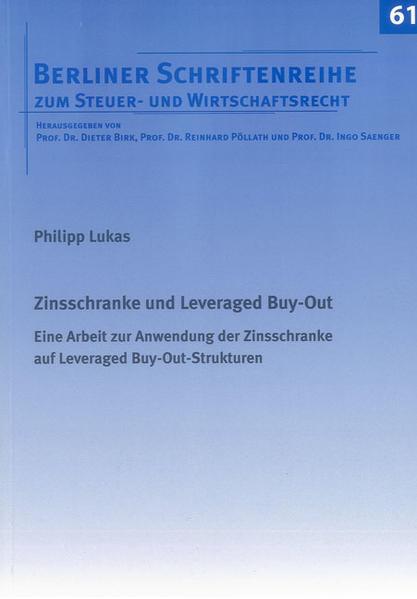 Zinsschranke und Leveraged Buy-Out - Coverbild