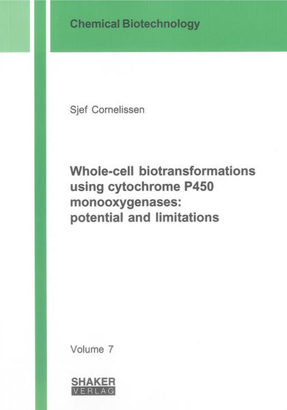 Whole-cell biotransformations using cytochrome P450 monooxygenases: potential and limitations - Coverbild
