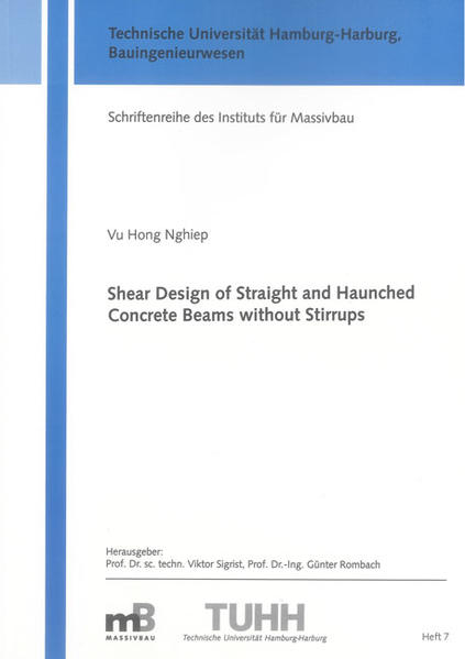 Shear Design of Straight and Haunched Concrete Beams without Stirrups - Coverbild
