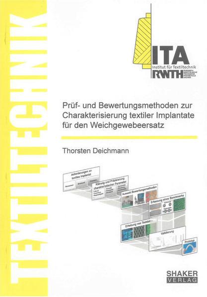 Prüf- und Bewertungsmethoden zur Charakterisierung textiler Implantate für den  Weichgewebeersatz - Coverbild