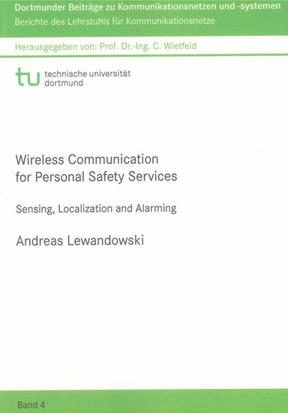 Wireless Communication for Personal Safety Services - Coverbild