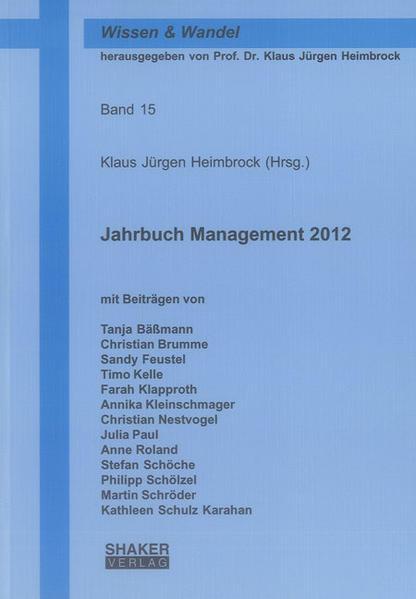 Jahrbuch Management 2012 - Coverbild