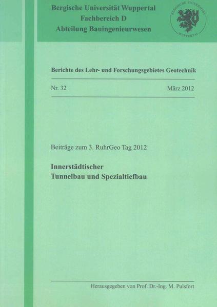Innerstädtischer Tunnelbau und Spezialtiefbau - Coverbild