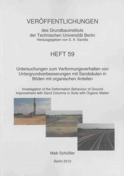 Untersuchungen zum Verformungsverhalten von Untergrundverbesserungen mit Sandsäulen in Böden mit organischen Anteilen - Coverbild