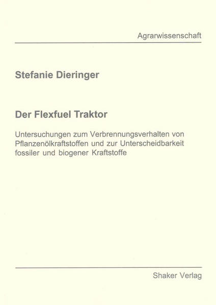 Der Flexfuel Traktor - Coverbild