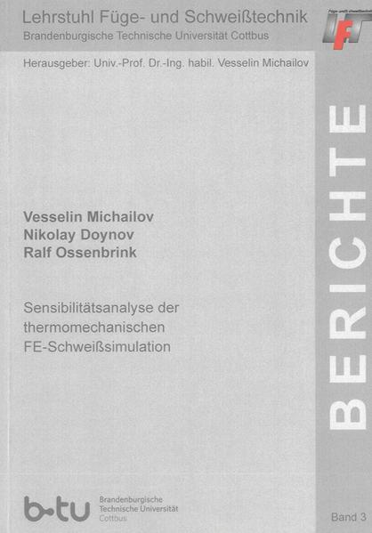 Sensibilitätsanalyse der thermomechanischen FE-Schweißsimulation - Coverbild