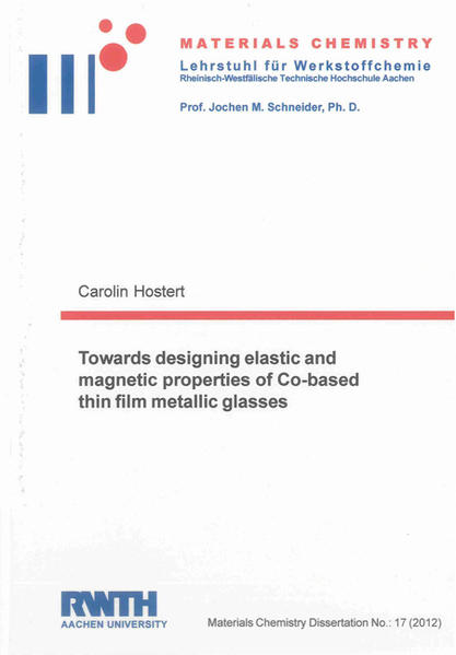Towards designing elastic and magnetic properties of Co-based thin film metallic glasses - Coverbild