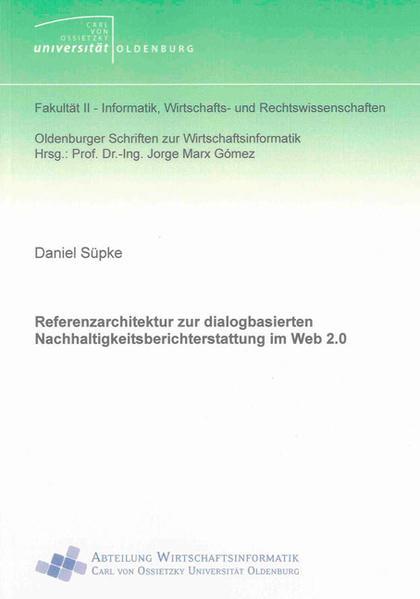 Referenzarchitektur zur dialogbasierten Nachhaltigkeitsberichterstattung im Web 2.0 - Coverbild