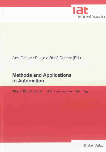 Methods and Applications in Automation - Coverbild