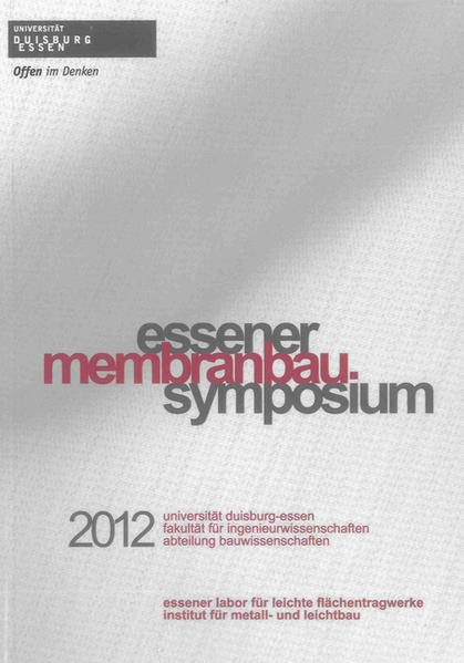 Essener Membranbau Symposium 2012 - Coverbild