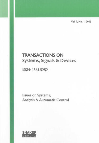 Transactions on Systems, Signals and Devices Vol. 7, No. 1 - Coverbild