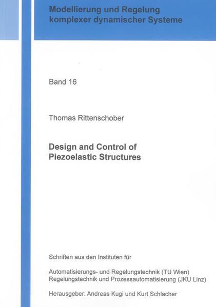 Design and Control of Piezoelastic Structures - Coverbild