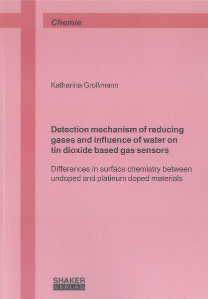 Detection mechanism of reducing gases and influence of water on tin dioxide based gas sensors - Coverbild