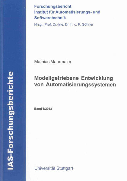 Modellgetriebene Entwicklung von Automatisierungssystemen - Coverbild