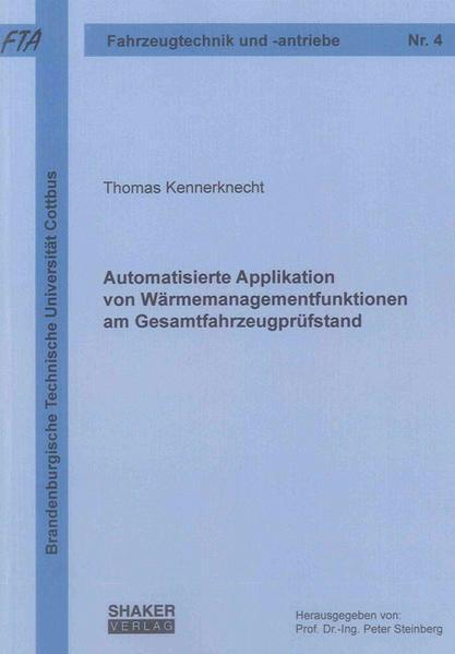 Automatisierte Applikation von Wärmemanagementfunktionen am Gesamtfahrzeugprüfstand - Coverbild