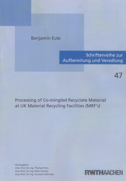 Processing of Co-mingled Recyclate Material at UK Material Recycling Facilities (MRF's) - Coverbild