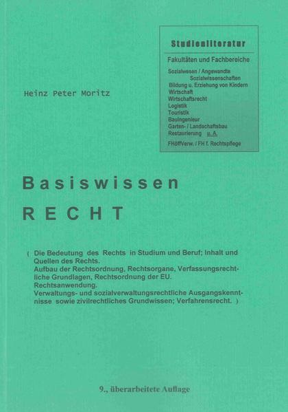 Basiswissen Recht (9. überarbeitete Auflage) - Coverbild