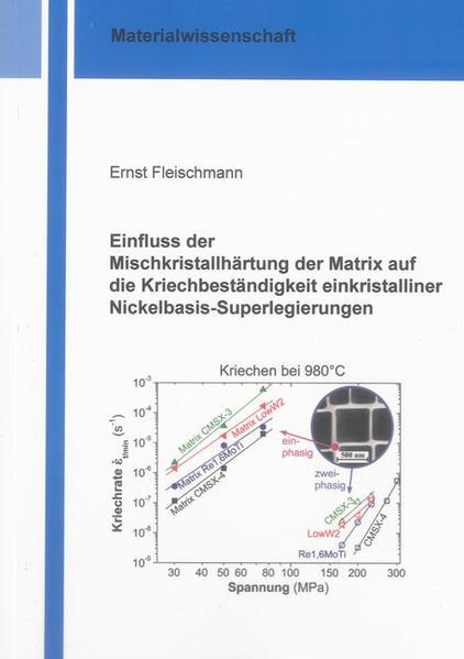 Einfluss der Mischkristallhärtung der Matrix auf die Kriechbeständigkeit einkristalliner Nickelbasis-Superlegierungen - Coverbild