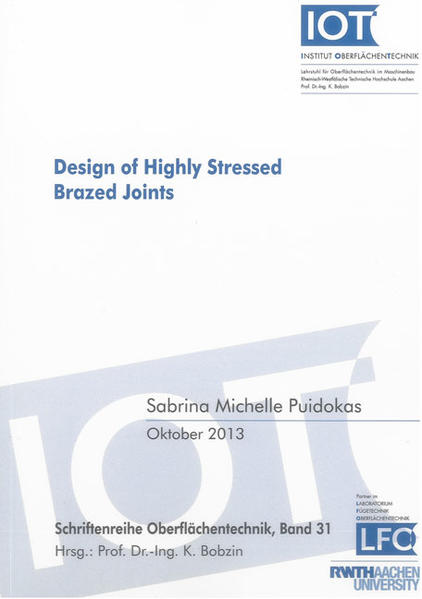 Design of Highly Stressed Brazed Joints - Coverbild