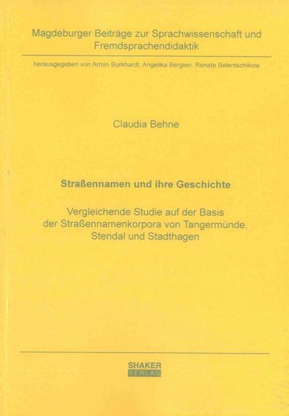 Straßennamen und ihre Geschichte - Coverbild