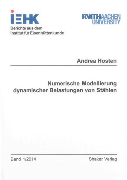 Numerische Modellierung dynamischer Belastungen von Stählen - Coverbild