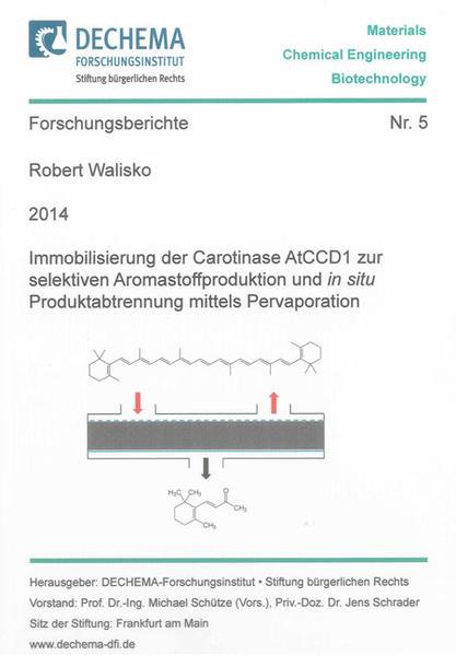 Immobilisierung der Carotinase AtCCD1 zur selektiven Aromastoffproduktion und in situ Produktabtrennung mittels Pervaporation - Coverbild
