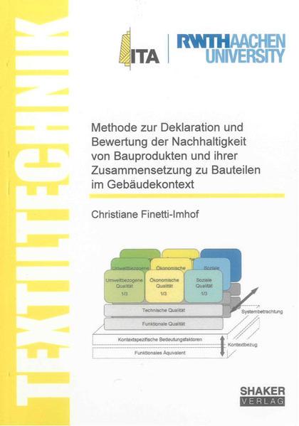 Methode zur Deklaration und Bewertung der Nachhaltigkeit von Bauprodukten und ihrer Zusammensetzung zu Bauteilen im Gebäudekontext - Coverbild