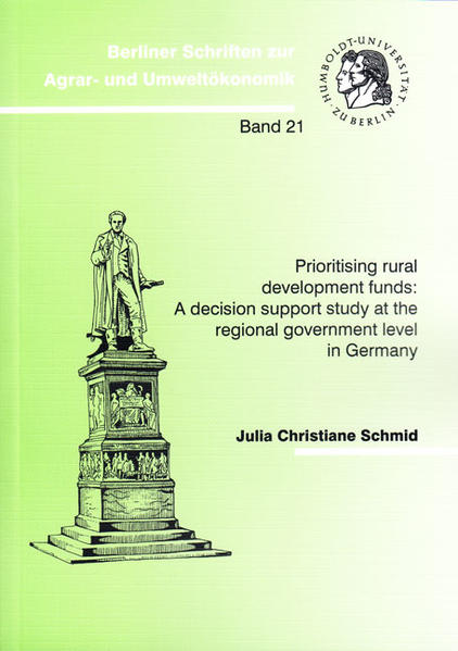 Prioritising rural development funds: A decision support study at the regional government level in Germany - Coverbild