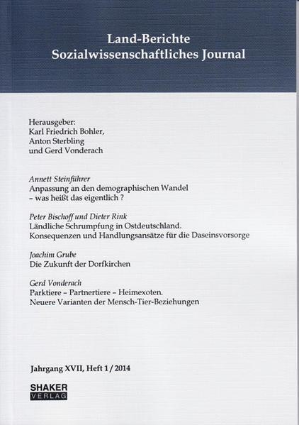 Land-Berichte. Sozialwissenschaftliches Journal - Coverbild