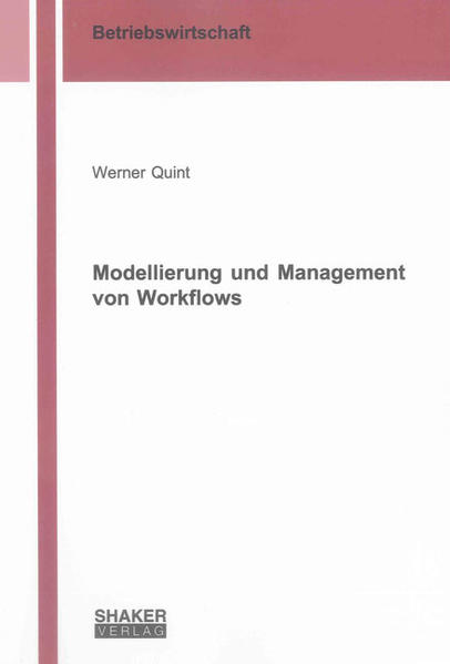 Modellierung und Management von Workflows - Coverbild