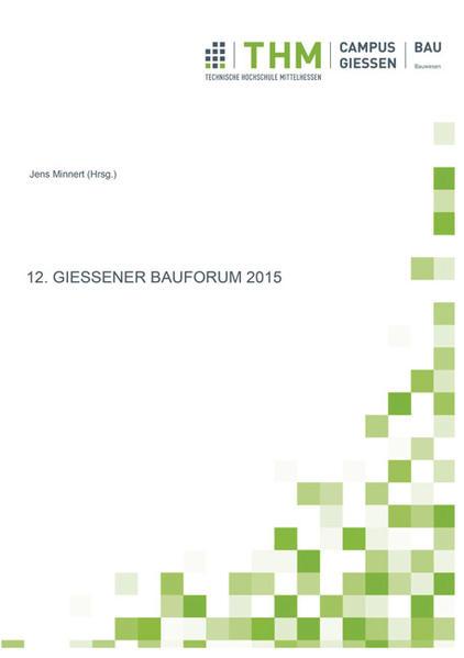 12. Gießener Bauforum 2015 - Coverbild