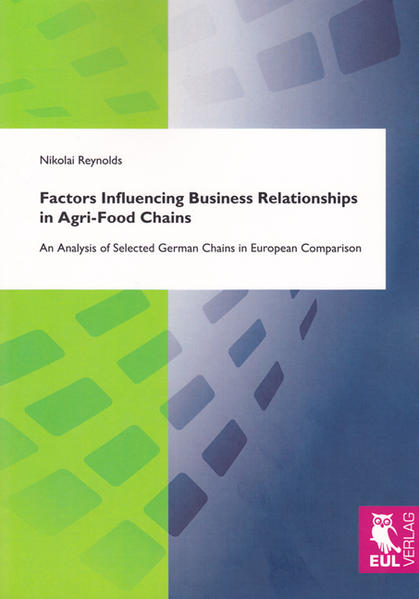 Factors Influencing Business Relationships in Agri-Food Chains - Coverbild