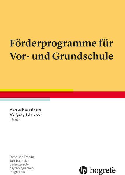 Förderprogramme für Vor- und Grundschule - Coverbild