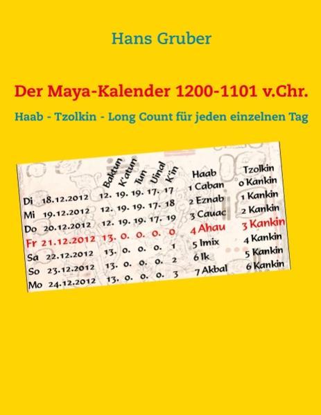 Der Maya-Kalender 1200-1101 v.Chr. - Coverbild