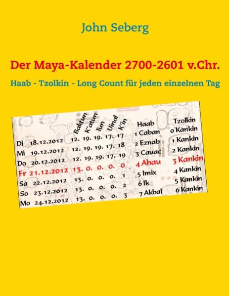Der Maya-Kalender 2700-2601 v.Chr. - Coverbild
