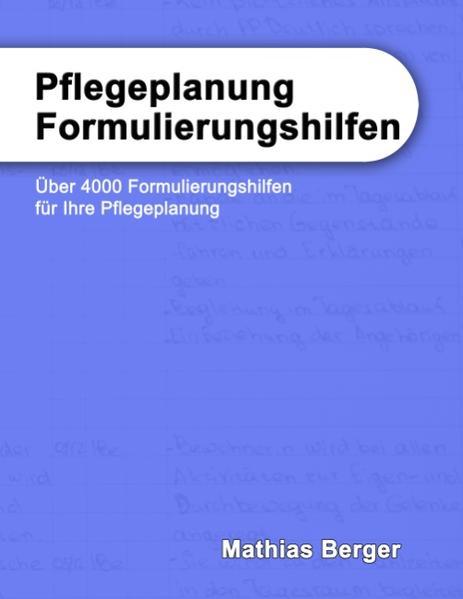 Pflegeplanung Formulierungshilfen - Coverbild