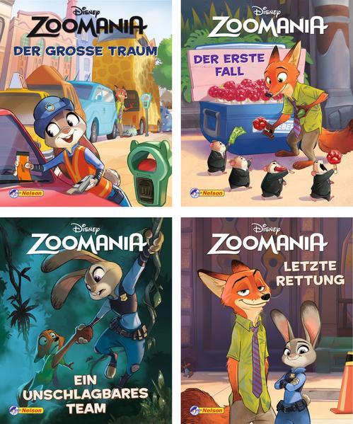Nelson Mini-Bücher: Disney Zoomania 1-4 - Coverbild