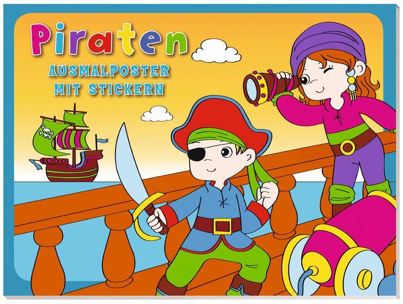 Ausmalposter mit Stickern: VE 5 Piraten - Coverbild