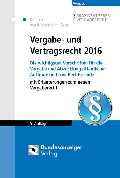 Vergabe- und Vertragsrecht 2016 - Coverbild