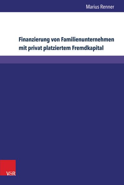 Finanzierung von Familienunternehmen mit privat platziertem Fremdkapital - Coverbild