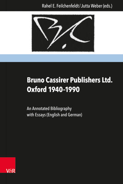 Bruno Cassirer Publishers Ltd. Oxford 1940–1990 - Coverbild