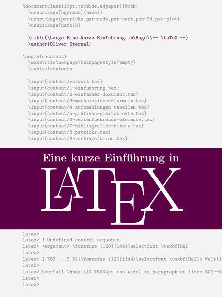 Eine kurze Einführung in LaTeX - Coverbild