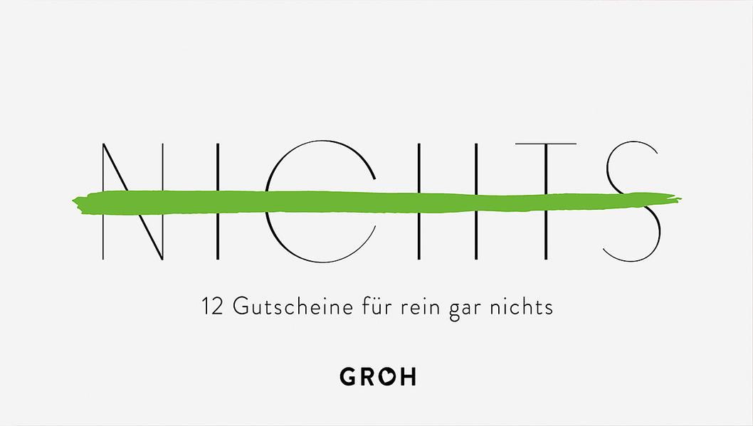 Gutscheinbuch NICHTS - Coverbild